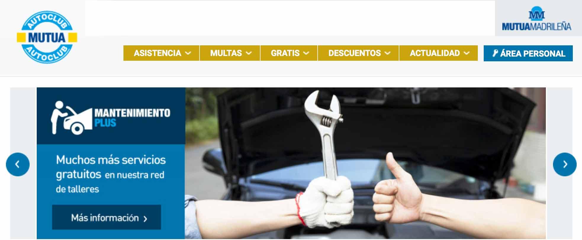Portada web Mutua Madrileña